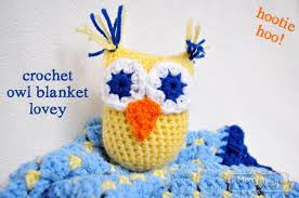Crochet Owl Blanket Pattern Free Adorable Crochet Owl Blanket Lovey Free Pattern My Merry Messy Life