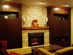 Decorations:Classic Fireplace Interior Designs With White Tile Surrounded  Fascinating Fireplace Design With Natural Stone
