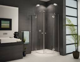 corner shower stalls for small bathrooms framed pivot shower door in chrome with center drain white acrylic base sliding shower door glass panels in clear