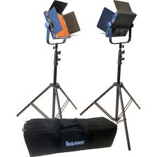 bescor al 576k led studio 2 light kit
