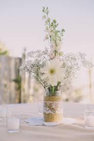 Simple DIY Baby's Breath and Daisy Centerpieces. Rustic Wedding FlowersDaisy  ...