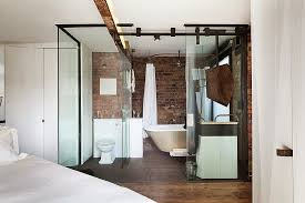 view in gallery innovative bathroom with glass walls in small london apartment design michaelis boyd associates