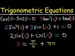 solving trigonometric equations using