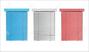 colored mini blinds. Vector Colored Blinds Isolated On White Royalty Free Cliparts Mini O