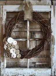 9 lovely autumn wreath made from gvine and burlap
