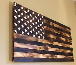 Burnt Wooden American Flag By On Etsy His Dream Wall Art