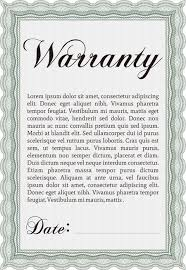 Sample Warranty Certificate Template With Background