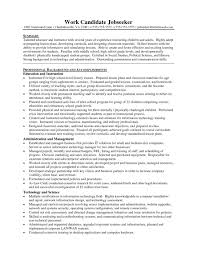Science Teacher Resume Template Resume Format For Computer