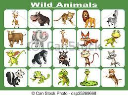 wild animals chart. Unique Animals Wild Animal Chart  Csp35269668 Inside Wild Animals Chart
