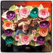 Paper Flower Frame Diy Paper Flowers Floral Frame