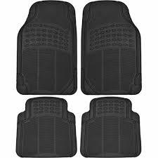 car floor mats. BDK Heavy-Duty 4-piece Front And Rear Rubber Car Floor Mats, All Mats .