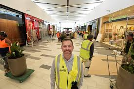 tauranga crossing chief executive steve lewis in front of the first stage of the enclosed mall
