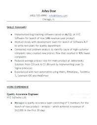 Qa Tester Cover Letter Sample Resume Resume Template Sample Resume