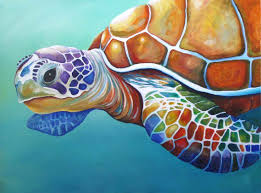 sea turtle paintings canvas images about sea turtles on sea turtle painting