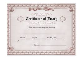 Certificate Outline 37 Blank Death Certificate Templates 100 Free Template Lab