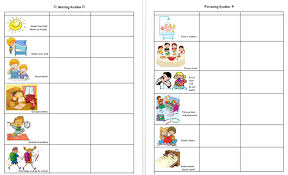 Kids Daily Routine Chart Keshalish Daily Morning Evening Routine Chart For Kids