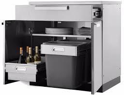 outdoor kitchen bbq cabinet bar in stainless steel