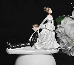 Wedding Cake Toppers Funny Figurine Bride And Groom Humor Marriage