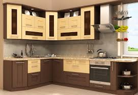 Modern Wooden Kitchen Cabinets Modern Two Toned Painted Dark Wood Kitchen Cabinets With Marble