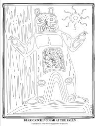 Pacific Northwest Native American Art Coloring Pages Smacs Place