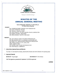 MINUTES OF THE ANNUAL GENERAL MEETING