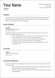 100 Free Printable Resume Builder