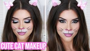 cute y cat makeup tutorial quick easy costume you