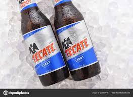 Tecate Vs Tecate Light Irvine June 2017 Tecate Light Bottles Ice Two Bottles Tecate