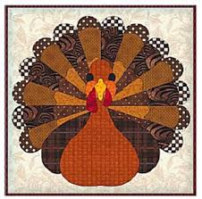 Quilt Inspiration: Free pattern day ! Thanksgiving & Thanksgiving turkey applique block, free pattern by Kimara at Wee Folk Art Adamdwight.com