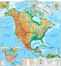 Географическая карта Северной Америки net Географическая карта Северной Америки