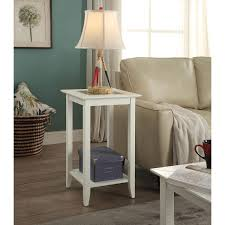 convenience concepts carmel white end table hover to zoom