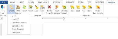 Save Word Templates Valuatum Words Save Load Features