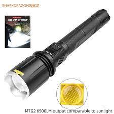Mới MTG2 Cao Cấp Đèn Led Siêu Sáng Đèn Pin Sạc USB Có Màn Hình LCD An Toàn  Búa Ống Kính Góc Rộng Zoom Đèn Pin|Đèn Pin LED