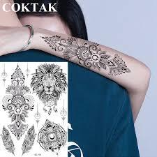 6687 руб индии серьги Henna Mandala цветок черный пользовательские лев временные