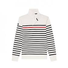 image 1 du produit eden park x saint james white striped cotton rugby shirt