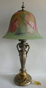 fenton lamp shades lamp hand painted by tall shade 1 fenton milk glass lamp shade