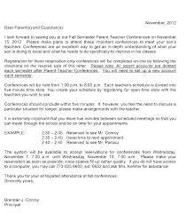 parent teacher conference letter to parents examples parental consent permission letter ate luxury field trip