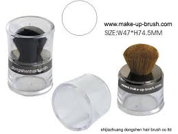 cosmetic jar powder brush loose powder plastic bottle conner cosmetic brush mineral powder jar