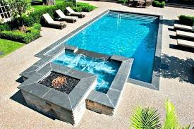 rectangular pool designs with spa. Small Pool With Hot Tub Designs Spa Geometric Rectangular