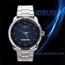 mens western watches in wristwatches western star truck stainless steel men logo sport metal watch