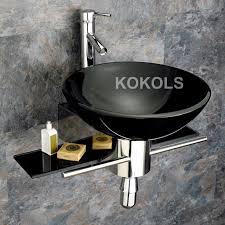 glass vessel sinks for bathrooms. Awesome Selections 80151 Vinton Sienna Vessel Single Sink Bathroom Vanity Glass Sinks For Bathrooms
