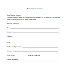 Permission Slip Template Interesting Field Trip Form Erkaljonathandedecker