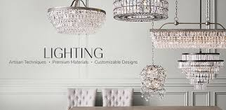 by chandeliers