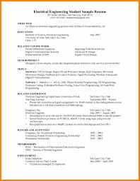 9 Electrical Engineering Internship Resume Resign Latter