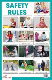 Safety Habits Chart Buy Safety Rules Thick Laminated Preschool Chart Book