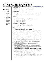 Sample Adjunct Professor Resume Sumptuous Design Professor Resume