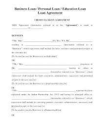 Simple Personal Loan Contract Personal Loan Agreements