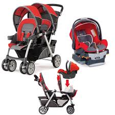 chicco cortina double stroller w infant car seat travel system