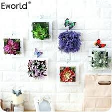 fake plant decor artificial plants decoration stereo artificial flowers wall sticker vintage decorations fake plants wall fake plant