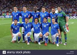 Italy's team is pictured prior the UEFA ...